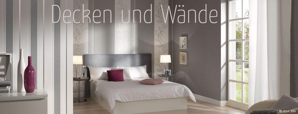 Decken und Wände